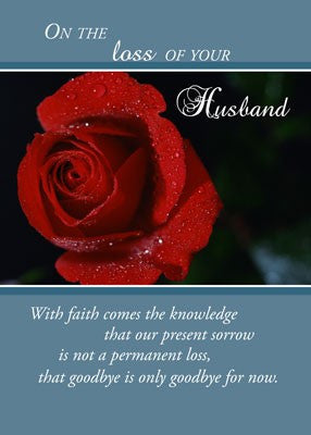 4368 Loss of Husband, Red Rose, Religious