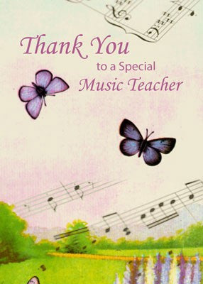 4173 Music Butterflies Thanks Teacher