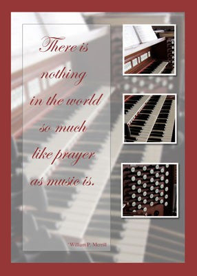 4182 Music Inspiration Organ Blank