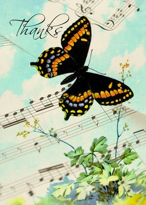 4197 Thanks Music Butterfly