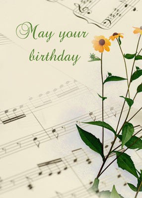 4189 Music, Orange Flowers, Birthday
