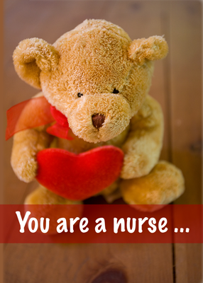 3599 Nurse's Week Bear Red Heart