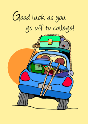 3758 Going to College Whimsical Car