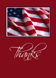 3436 Patriotic Thanks in Red
