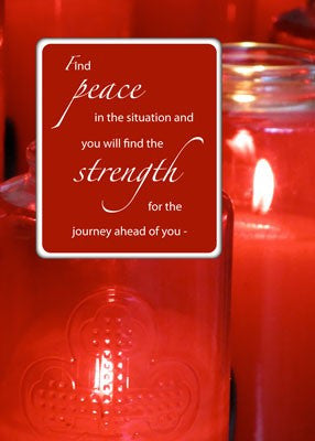 4106 Peace and Strength Red Candles