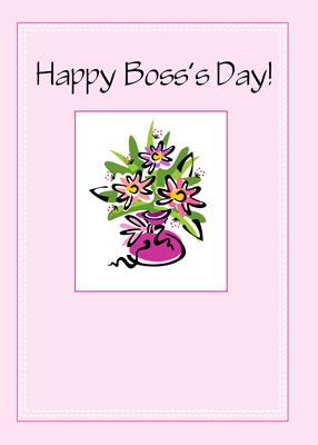 2753 Pink Bouquet Boss's Day