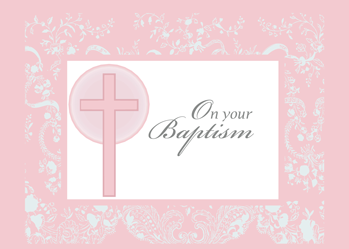 2790 Pink Lace Baptism