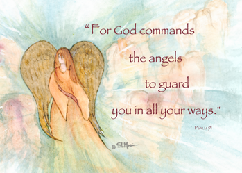 3846 Angel Psalm 91 Thinking of You