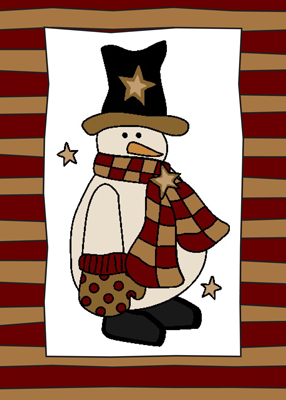 3251 Snowman With Black Hat
