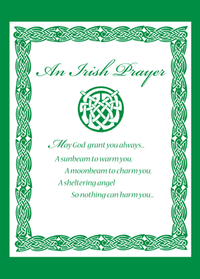 3489 Celtic Prayer St. Patrick's Day