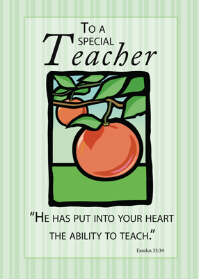 3495 Teacher Thank You Apples Religious