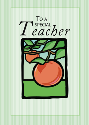 3494 Teacher Thank You Apples