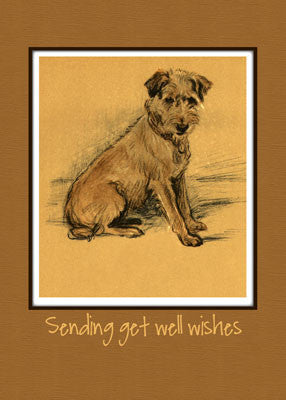 3793 Terrier Dog, Get Well, Sitting Up