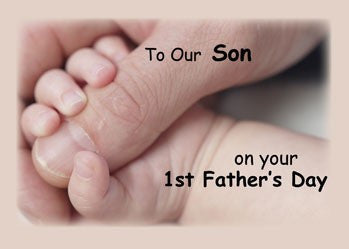 4138 Son, On Your First Father's Day