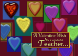 3545 Teacher Valentine Blocks of Hearts