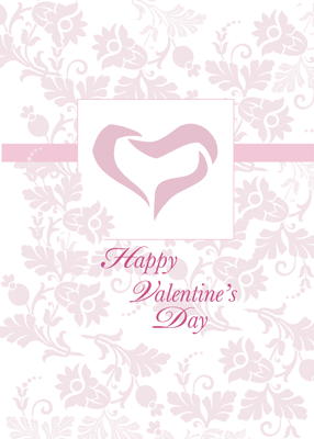 3480 Valentine's Day Pink Flower Pattern