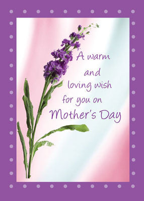 4459 Mother's Day Warm Wish Purple Wildflower