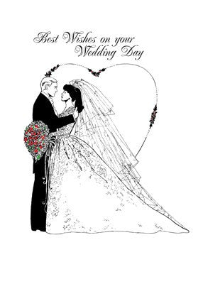 2601 Wedding Wishes Beautiful, Simple Black and White