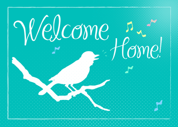 3741 Welcome Home Bird Silhouette