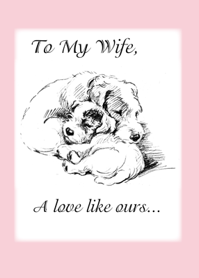 3558 Wife Valentine Dogs