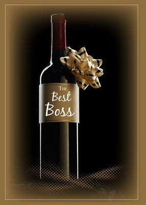 2758 Wine With Bow on Boss's Day