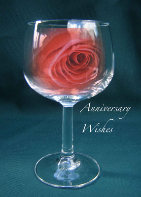 4028 Wineglass Rose Anniversary