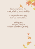 3975 Friend, Thanksgiving Wishes, Leaves