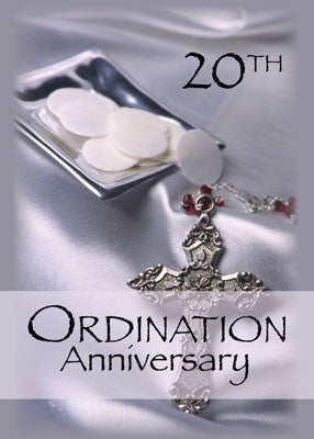 51756G 20th Ordination Anniversary Congratulations, Hosts and Cross