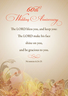 52020Q 60th Wedding Anniversary, Religious Lord Bless & Keep