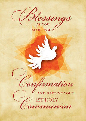 51893C Confirmation & Communion Congratulations Blessings Dove