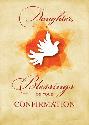 51893X Daughter, Confirmation Congratulations Blessings Dove