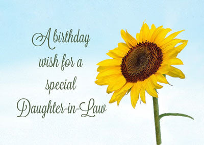 52274 Daughter-in-Law Religious Sunflower Birthday