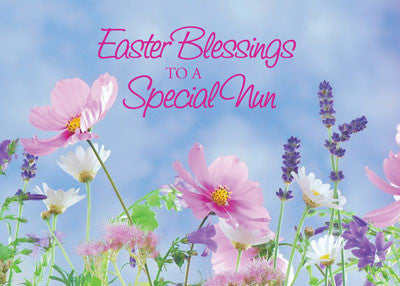 52230 Easter Blessings To Nun, Wildflowers