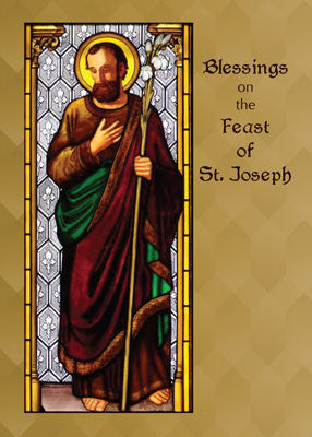 52199 St Joseph with Wheat Staff