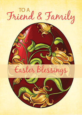 52018E Friend & Family Easter Religious Blessings, Egg with Lilies
