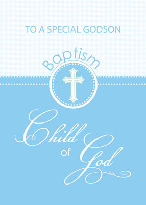 51878BD Godson Baptism Congratulations Blue Child of God