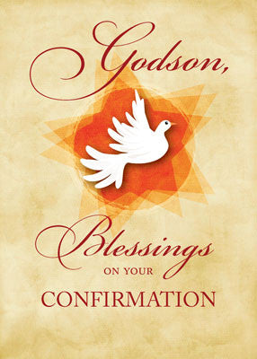 51893H Godson, Confirmation Congratulations Blessings Dove