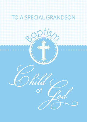 51878BF Grandson Baptism Congratulations Blue Child of God