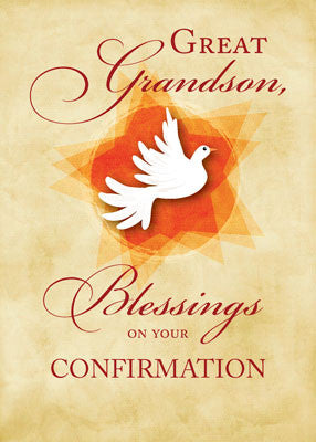 51893E Great Grandson, Confirmation Congratulations Blessings Dove