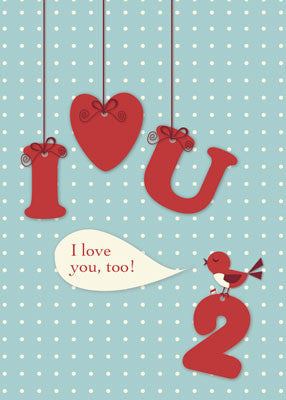 51859 Love You Too, Bird Valentine's Day