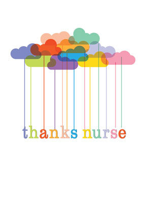 52163B Nurses Day From All of Us Group, Rainbow Clouds