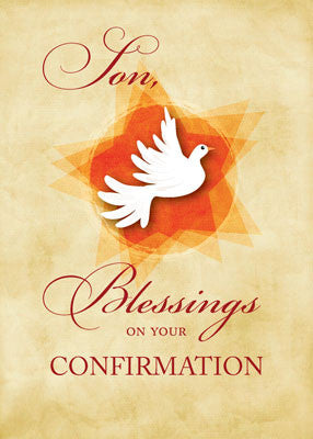 51893P Son, Confirmation Congratulations Blessings Dove