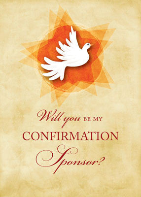 51893S Will You Be My Confirmation Sponsor, Dove, Invitation Request