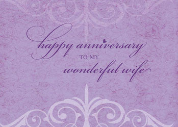 51953B Wife Wedding Anniversary Celebration Lavender