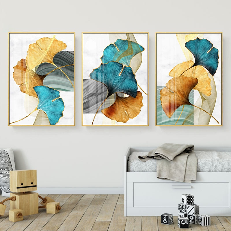 Triple Cuadros Abstractos - Wall Art