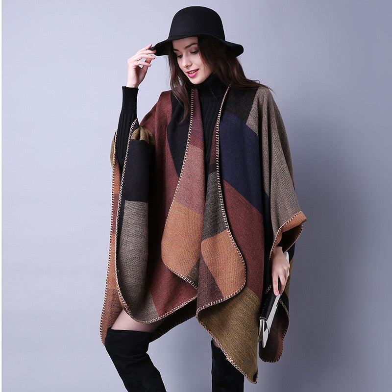 Poncho Doble Cara – Trendy Cape