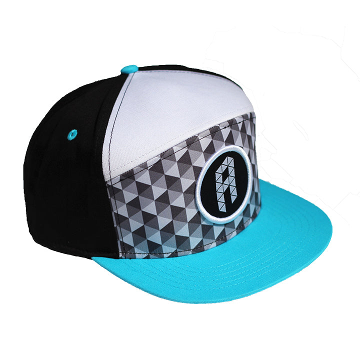 Apex 6-Panel Hybrid Snapback Disc Golf Hat Triangle Pattern