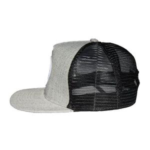 Gray Wool Pinch-Front and Mesh Structured Disc Golf Snapback