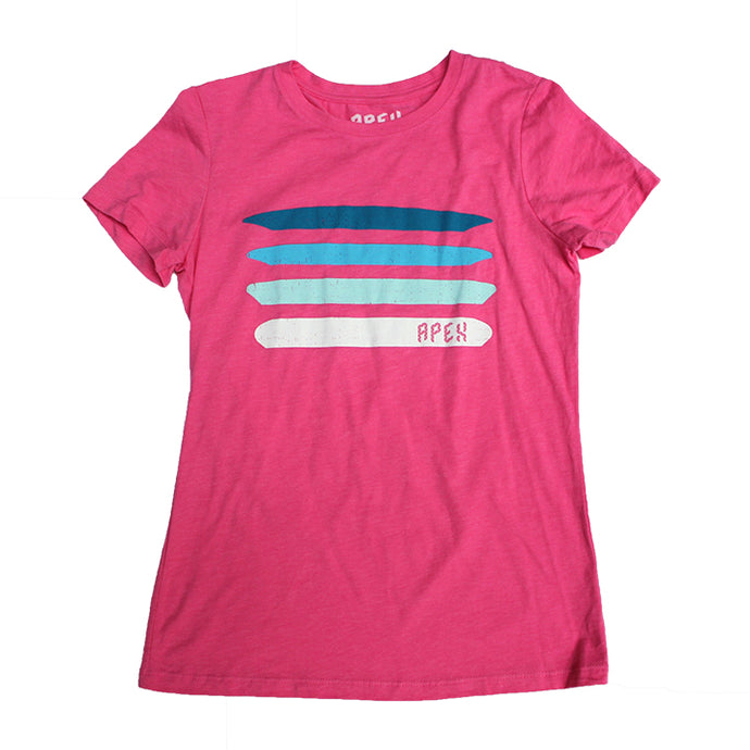 Vintage pink tri-blend women's disc golf t-shirt