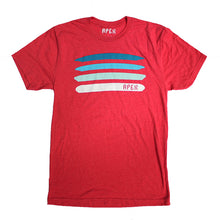 Vintage red tri-blend men's disc golf t-shirt